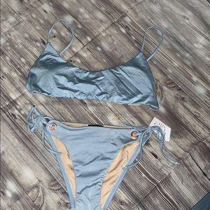 La hearts bikini set in baby blue ☀️